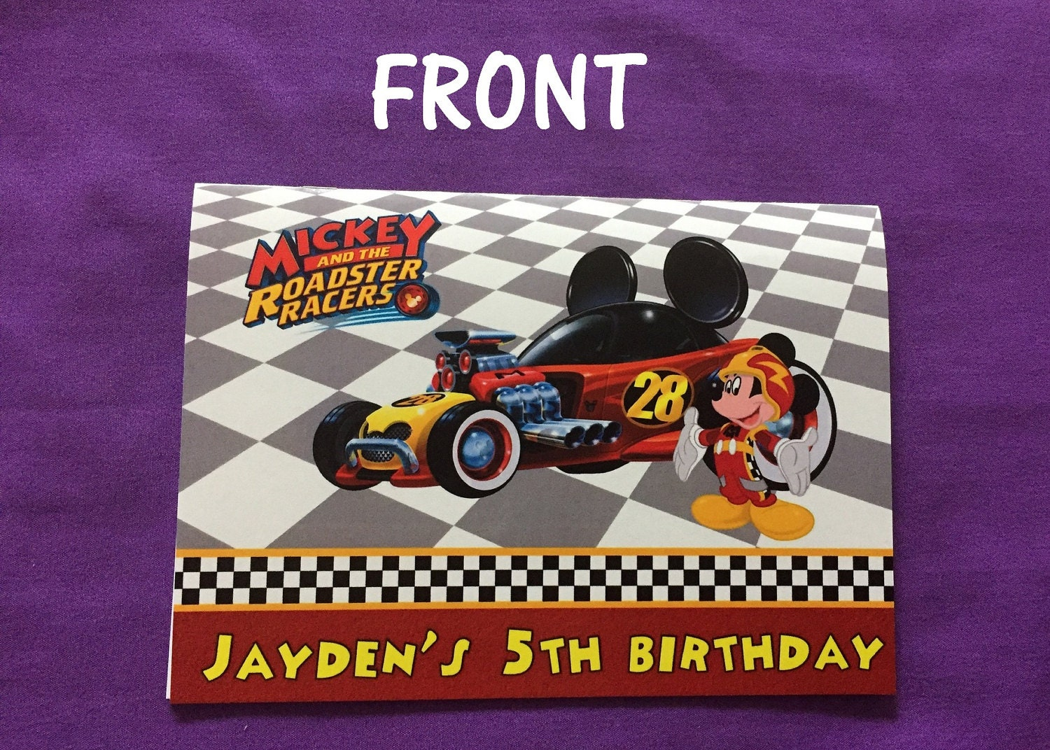 personalized mickey and the roadster racers coloring books