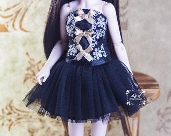 BJD doll slim MSD Minifee clothes black dress + legging