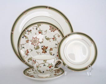 2 Place Setting, Wedgwood England Oberon Bone China Dinnerware Set, New Item