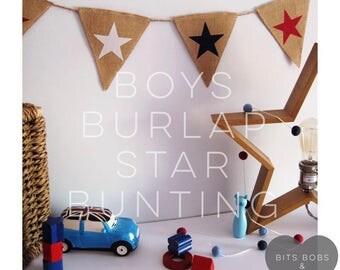 Kids Bedroom Bunting burlap bunting   etsy