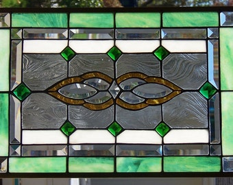Stained Glass Window Hanging 22 X 15