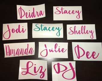 Vinyl Name Decals for Tumblers, laptops, decals, vinyl decals, tumblers, car decals