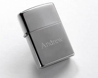 Personalized Zippo High Polished Chrome Lighter - Personalized Zippo Lighter - Zippo Lighters - Gifts for Him - Groomsmen Gifts - GC140