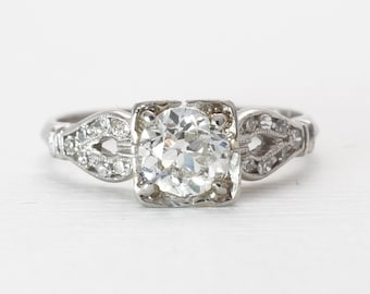 Vintage Engagement Ring | Art Deco | Platinum | Old European Cut Diamonds
