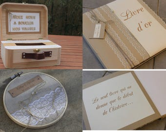 Together book gold + door-alliance + box message line 2: country chic wedding |
