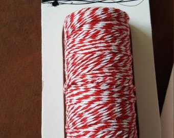 Red and White Baker's Twine, Peppermint Twine,