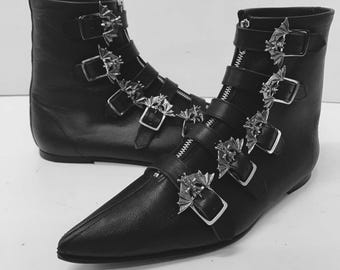 Original Pikes-5 Bat Buckle Boots