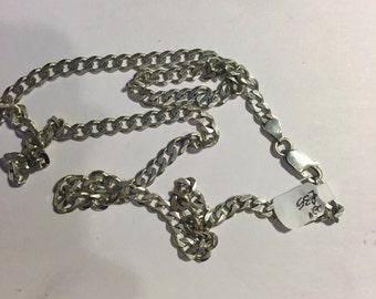 """Pretty sterling silver 22"""" chain"""