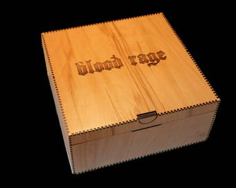 Blood Rage Storage Box!  Gorgeous laser cut custom storage box INCLUDES assembled organiser - gorgeous bespoke storage for a  BIG game!