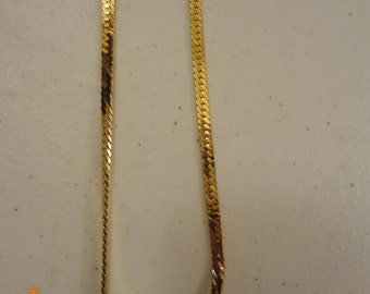 "Vintage Monet Goldtone 30"" Serpentine Chain Necklace"