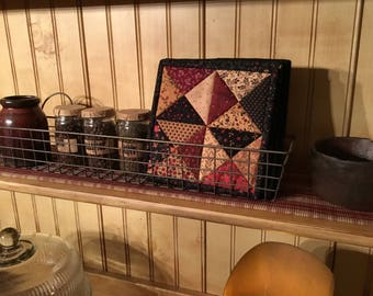 Patchwork Potholders / Country Decor / Quilted Pot Holders / Kitchen Potholders / Handmade / Item #2006