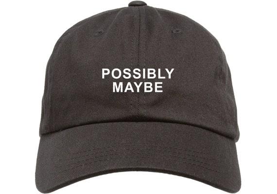 Black Dad Cap POSSIBLY MAYBE Low Profile Hat Wiz Khalifa