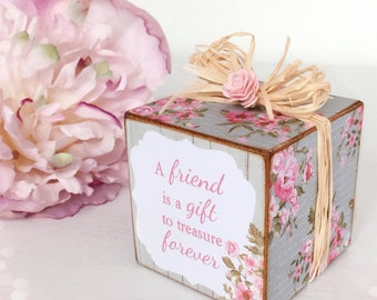 Shabby Chic Wooden Friendship Cube...