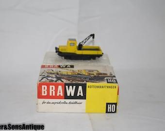 Vintage Brawa Train Car w/ Original box Rottenkraftwagen