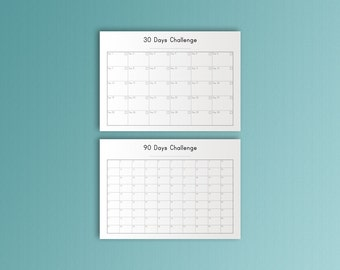 Habits Tracker A4, Fitness Planner, Printable, Daily tracker, Daily Habit Tracker,  Habit Tracker,  Don't Break the Chain, Habit Builder