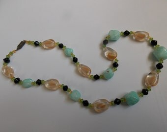 Vintage 1950's murano glass necklace