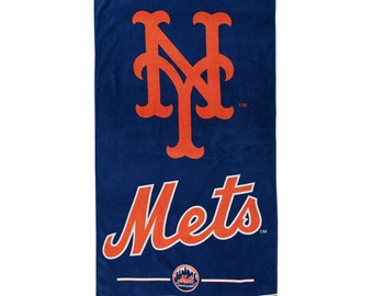 New York Baseball Team Inspired METS Beach Towel Personalized Beach Towel