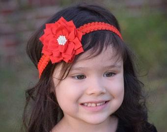 Christmas headband, flower  Baby Headband, Newborn Headband,  Infant Headband,Baby Headband, Headband Baby