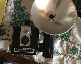 Vintage Kodak Brownie Hawkeye From 1949 With Flash Attachment