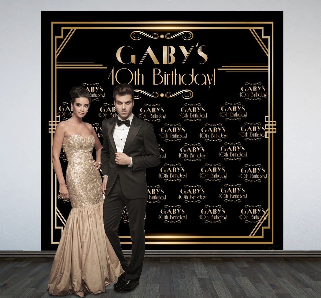 Great Gatsby Party Personalized Photo Backdrop Roaring