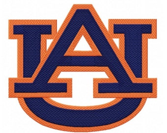 Auburn Logo...6 Sizes...Instant Download...Pattern Fill Machine Embroidery DESIGN NO . 820
