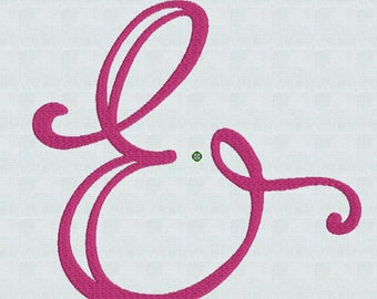 Ampersand / Mod Embroidery/ Instant Download / Embroidery Machine Pes Designs / 3 sizes /