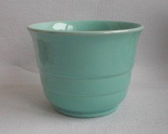 Vintage Planter, Aquamarine ,Dutch Pottery, Holland. 1960's