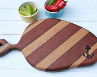 Reclaimed Hardwood Chopping Board / Serving Board
