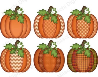 60% OFF SALE Thanksgiving clipart, pumpkin clipart, fall clipart, digital clip art, commercial use, instant download - M423