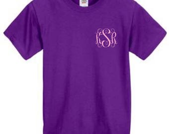 Monogrammed shirt,Cheap monogram gift,Women's monogram shirt,Ladies monogram gift,inexpensive gift,Mother's day shirt,Gift under 10