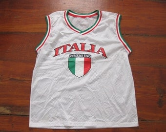 Vintage Italia Basketball Jersey Shirt Mesh Adult Large