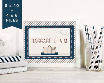 Baggage Claim Sign 8x10 and 4x6 | Precious Cargo sign | airplane baby shower Luggage sign | Instant download printable files