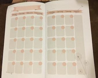 Midori / Fauxdori monthly Planner calendar