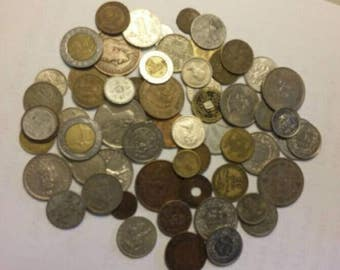 Foreign Coin Destash Mixed Lot 60 Pcs.