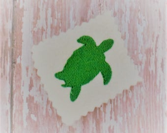 Sea Turtle Embroidery Design - Machine Embroidery - Digital Download - Embroidered Turtle - Machine Embroidery Pattern