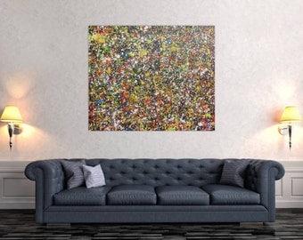 Modern abstract artwork in XXL by Alexander Zerr acrylic on canvas 100x120cm #638