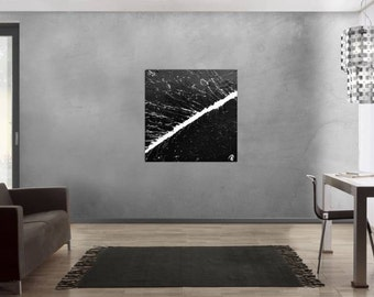 Modern abstract artwork in XXL by Alexander Zerr acrylic on canvas 100x100cm #643