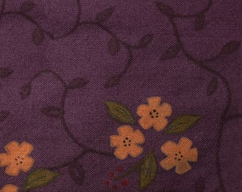 Quilt Fabric Quilting Fabric Cotton Calico Pretty Deep Purple Floral by Hearth & Home: Fat Quarter or Cut-to-Order