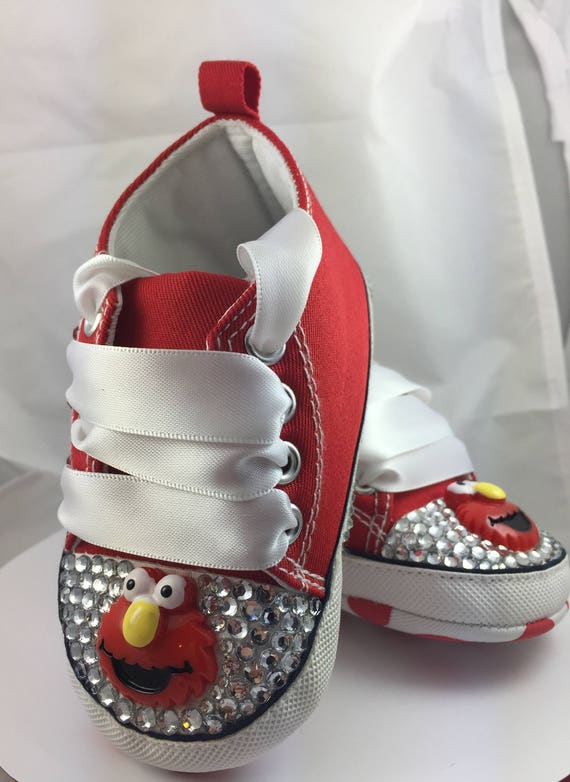 ON SALE Customised Baby Elmo Crib Shoes Infant Sneakers Boy