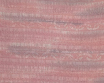Vintage Japanese Silk Kimono Fabric Pink Mist