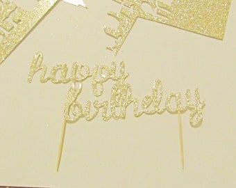 Happy Birthday cake toppers!