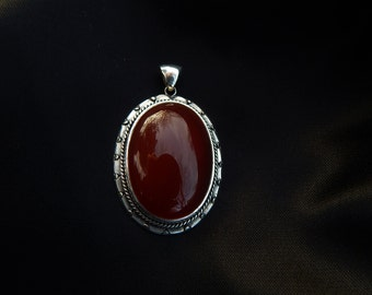 Vintage carneol pendant