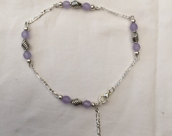 Faceted Alexandrite Anklet