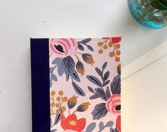 SALE Flower Diary, Leather Binding, Medium