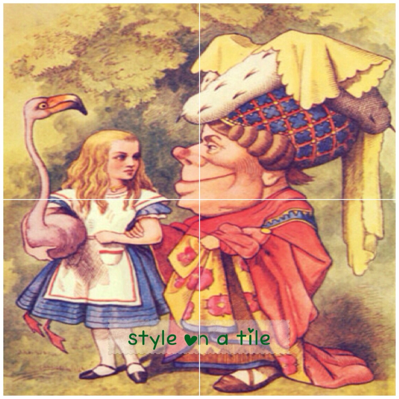 Lovely alice in wonderland queen of hearts 4 x 6 or 152mm ceramic lovely alice in wonderland queen of hearts 4 x 6 or 152mm ceramic tile mural mosaic wall art splash back dailygadgetfo Gallery