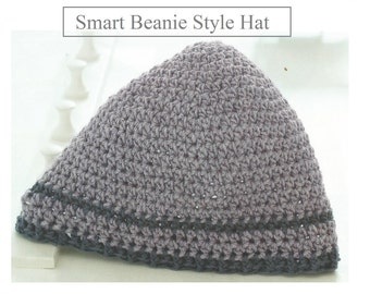 Instant Download - PDF-  Smart Beanie Style Hat Crochet Pattern (CA15)