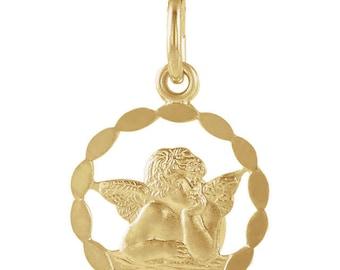 Vintage Style 14K Gold Angel Necklace
