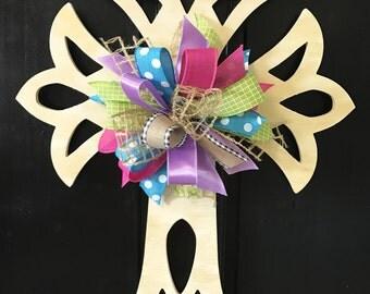 Open Cross, Easter Door Hanger, Easter Wreath