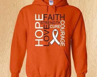 "Multiple Sclerosis ""Hope Love Faith"" Sweatshirt"