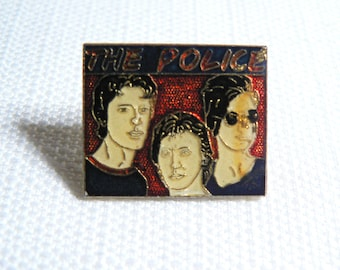 Vintage 80s The Police Band Enamel Pin / Button / Badge